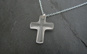 Crystal Cross Necklace - First Holy Communion Gift