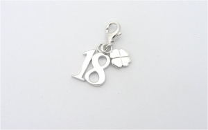 18th Birthday - Sterling Silver Charm for Bracelets
