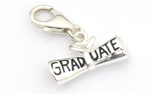 Graduation Charm - Sterling Silver Diploma