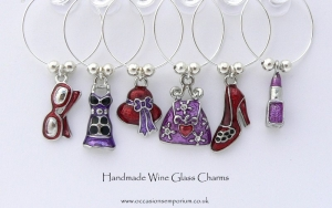 Girls Night Out Wine Glass Charms - Hen Night Ideas