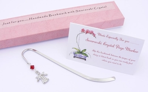 Guardian Angel Charm Decorated Bookmark