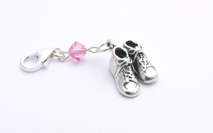 Girls Christening Gift - Sterling Silver Baby Shoes Charm