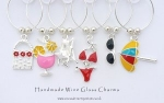 Beach Babe Enamel Wine Glass Charms