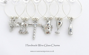 Classic Wine Glass Charms - Perfect Table Decoration