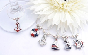 Sailing Wine Glass Charms