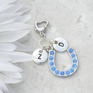 Personalised Initials and Horseshoe Garter Charm
