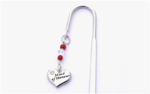 Maid of Honour Charm Decorated Bookmark