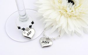 Mr and Mrs Wine Charms