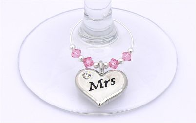 silver wedding gift charms