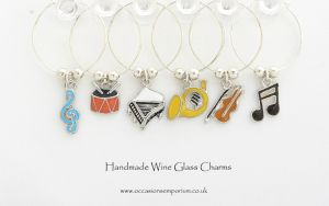 Music Wine Glass Charms