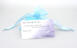 something blue wedding organza bag