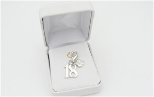 silver charm for 18th birthday