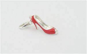 Red Stilletto Shoe - Sterling Silver Charm for Bracelets