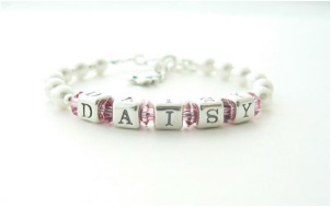 Sterling Silver Name Bracelet - Personalised Christening Gift