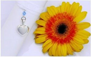 Photo Locket Sterling Silver Wedding Bouquet Charm