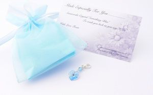 cross garter charm free organza bag