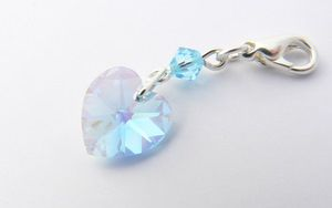 Something Blue Crystal Heart Garter Charm