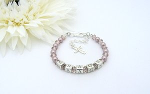 christening bracelet with pearls