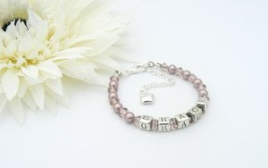 naming day bracelet for a Holy Communion gift
