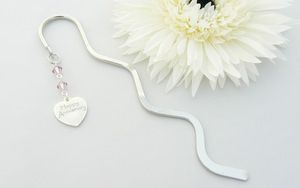 Happy Wedding Anniversary Gift Charm Bookmark