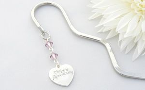 wedding anniversary gift charm bookmarks