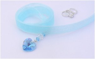 aqua crystal wedding bouquet charm