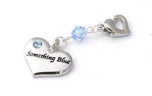 wedding garters charm in blue